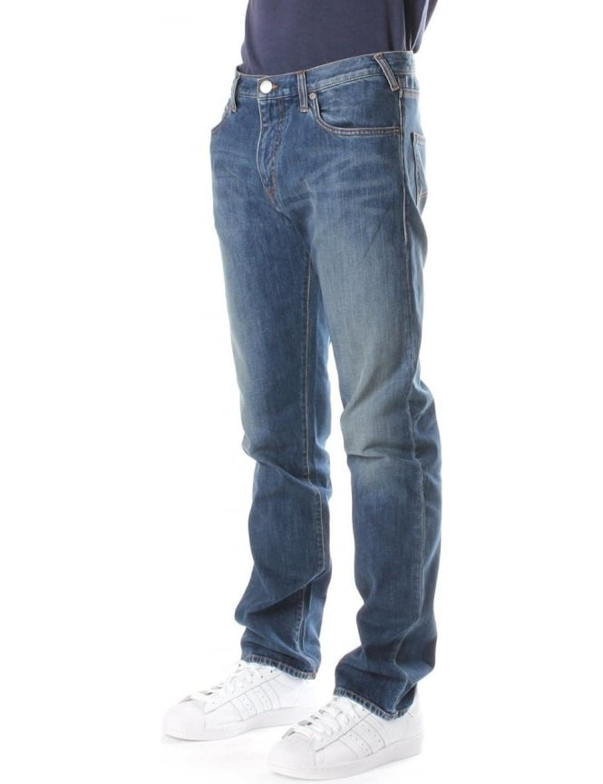 Armani Jeans Regular Waist Men's Tight Leg Jean Denim