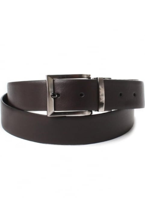 Reversible Men's Leather Belt Black/Brown