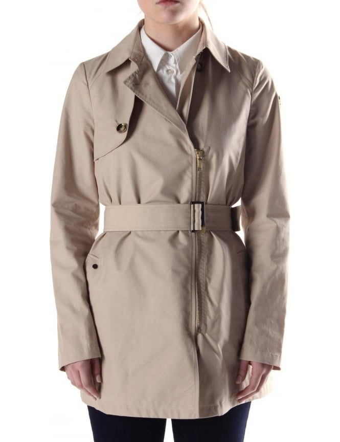 coupon codes world-wide renown quality products Armani Jeans Smart Women's Trench Coat Beige