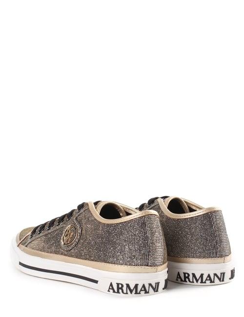 b6bbda5a1e6 Armani Jeans Sparkle Women s Low Top Trainers Gold