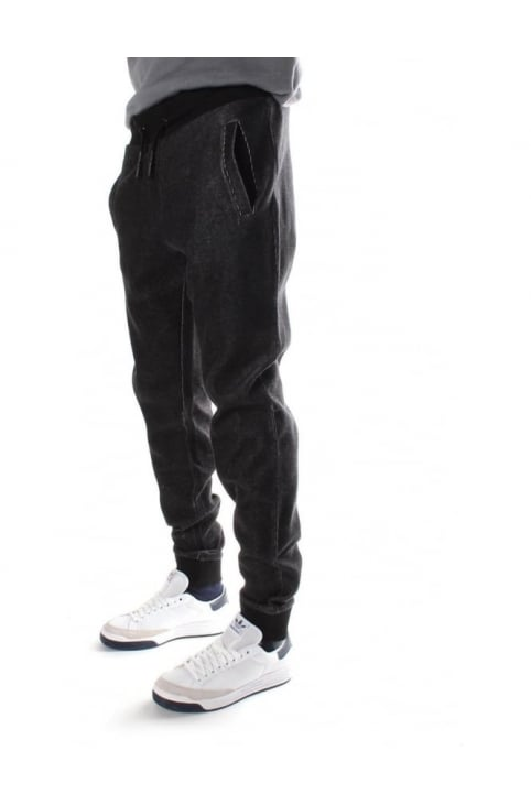 Tie Waist Men's Sweat Pants Black