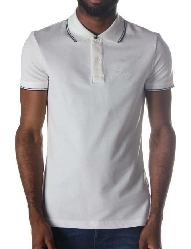 Armani Jeans Tipped Collar Slim Fit Men's Short Sleeve Polo Top
