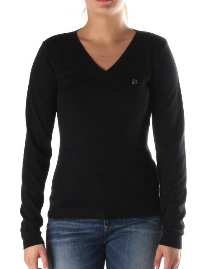 Armani Jeans V Neck Women s Pullover Knit 5bc55d26d537