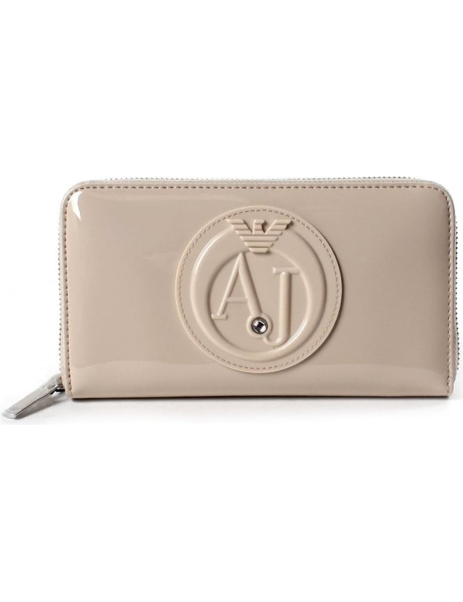 Armani Jeans Women's 'AJ' Circle Logo Zip Wallet