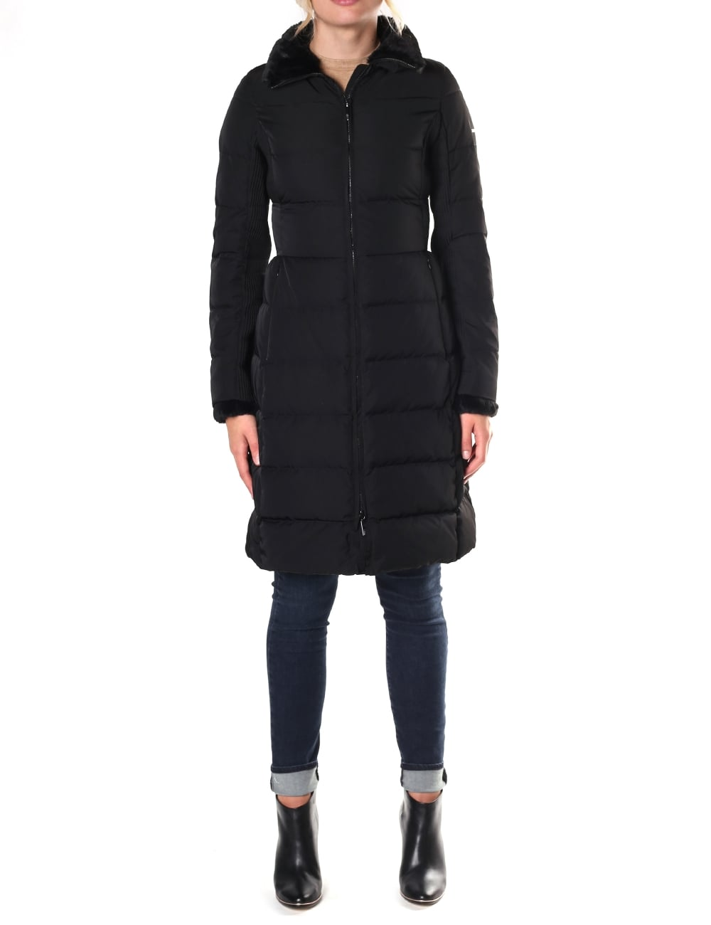 Armani Jeans Women S Long Quilted Jacket