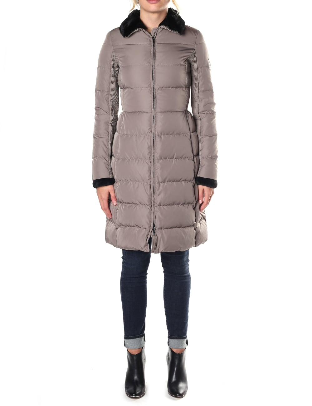 9ba621ff4 Armani Jeans Women's Long Quilted Jacket