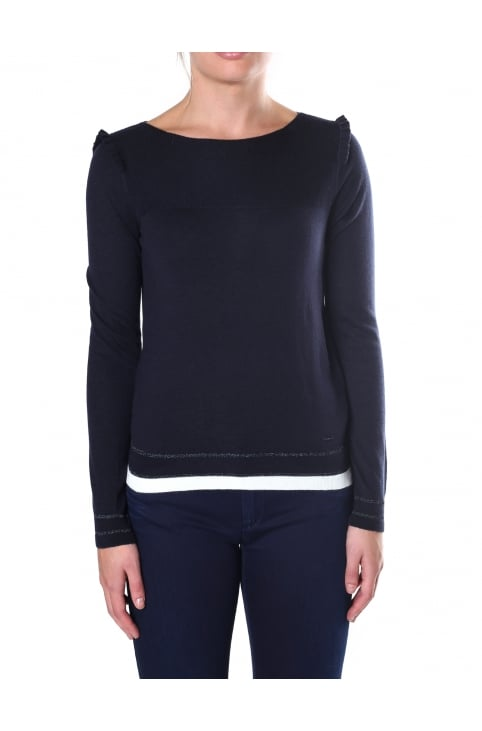 e4a4e9f54188 Women s Pleated shoulder knit. Armani Jeans ...