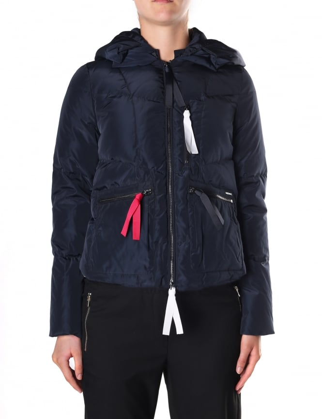 Armani Jeans Women's Zip Through Hooded Puffa Jacket