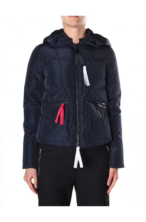 Women's Zip Through Hooded Puffa Jacket