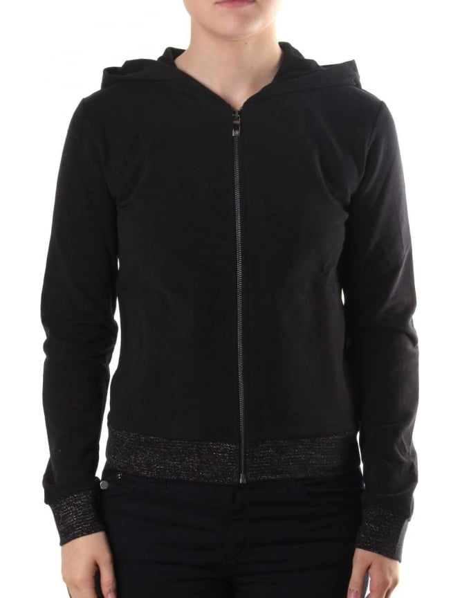 Armani Jeans Women's Zip Through Hooded Sweat Top