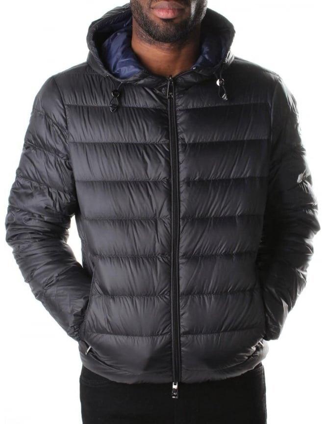 Armani Jeans Zip Through Reversible Men's Hooded Down Jacket
