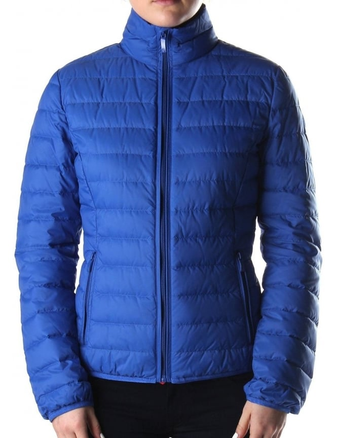 a11ddcad6b7d Armani Jeans Zip Thru Women s Quilted Down Jacket Blue