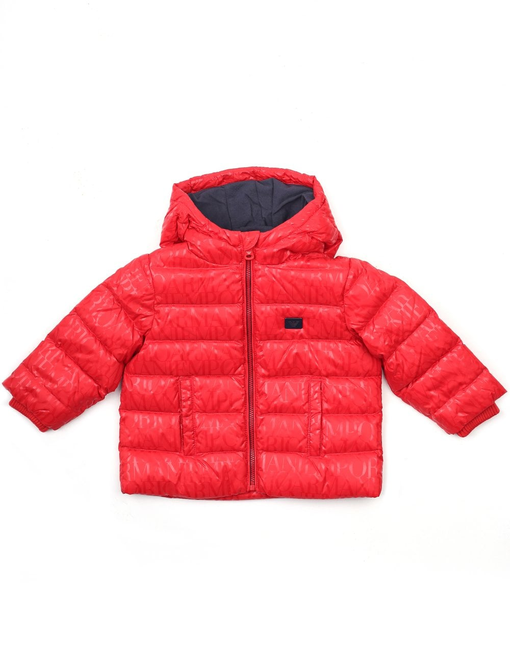 6e0ed629f9eb Armani Baby Boys Zip Through Hooded Down Jacket