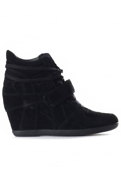 Women's Bowie Hi Top Wedge Trainer Black