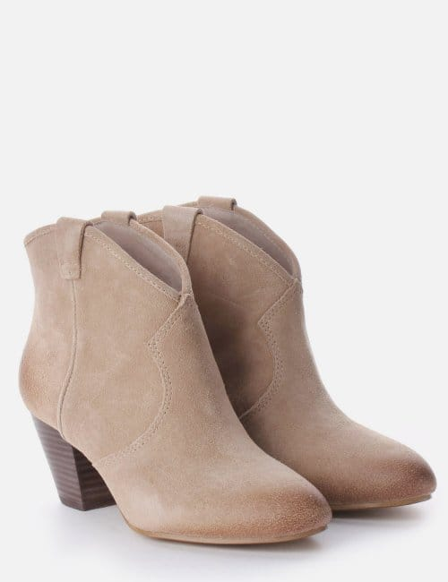 for whole family picked up street price Jalouse Suede Ankle Boot Women's Beige