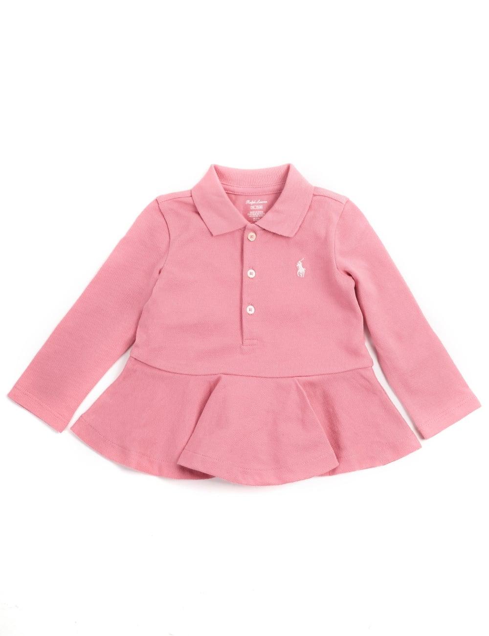 5a985129 Polo Ralph Lauren Baby Girls Frill polo Top