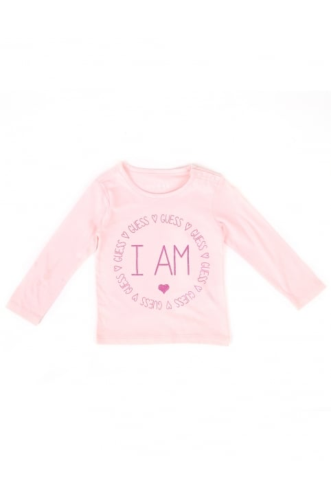 Baby Girls I Am Guess Tee