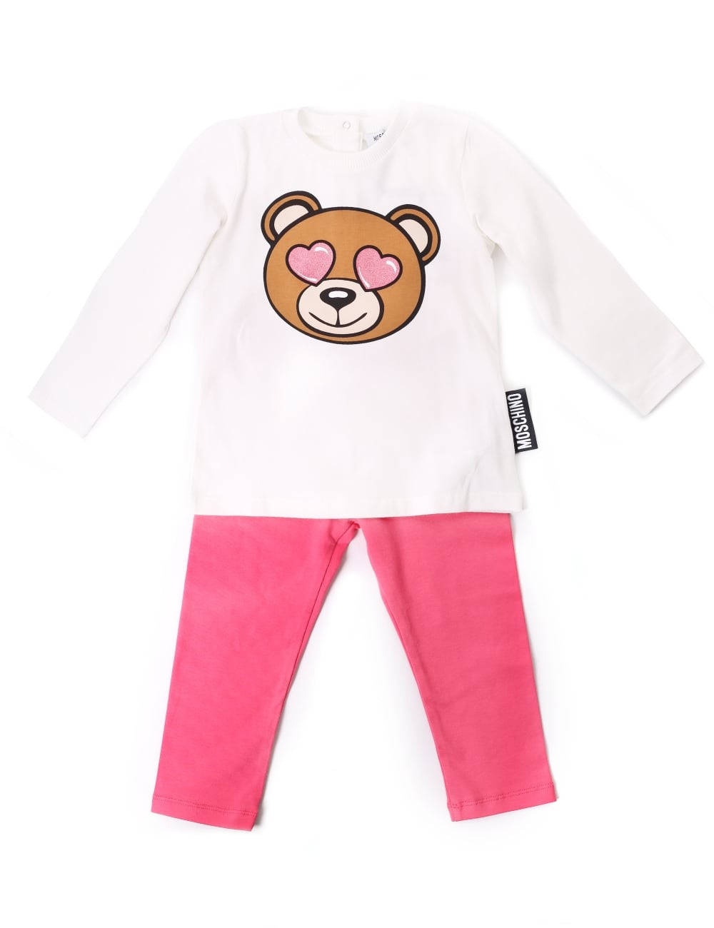 a7b2e2fdb5075 Moschino Baby Girls Teddy Tee And Leggings Set