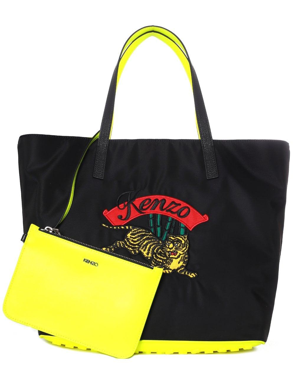 db876b4b03 Kenzo Women's Bamboo Tiger Shoulder Shopper Bag