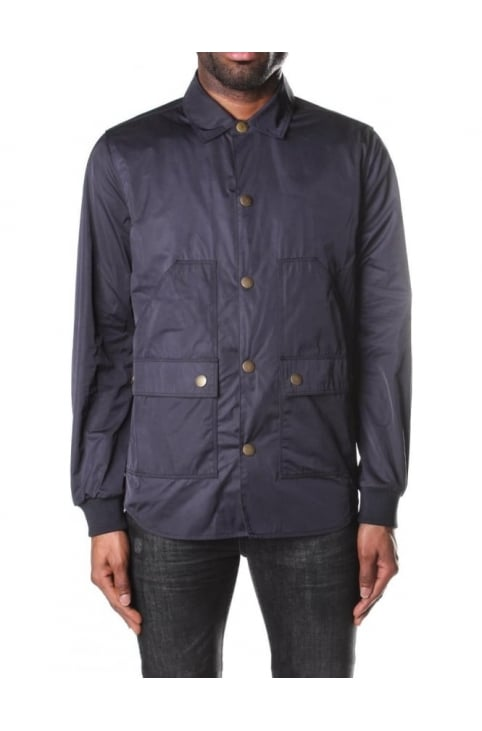 Barbour Men's Funnel Neck Lock Wax Jacket Navy