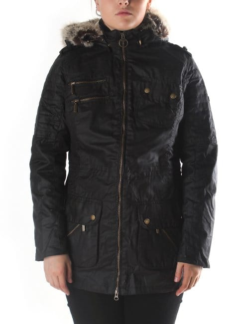 Barbour Bearing Women S Hooded Wax Jacket Black