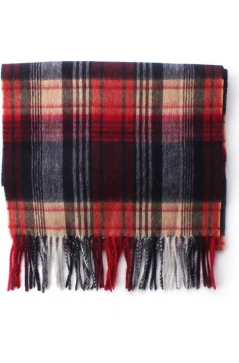 Birgnall Men's Lambswool Scarf Red/Blue