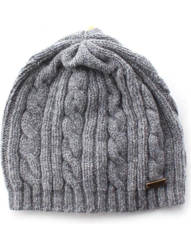 Barbour Blaydon Women's Cable Beanie Grey