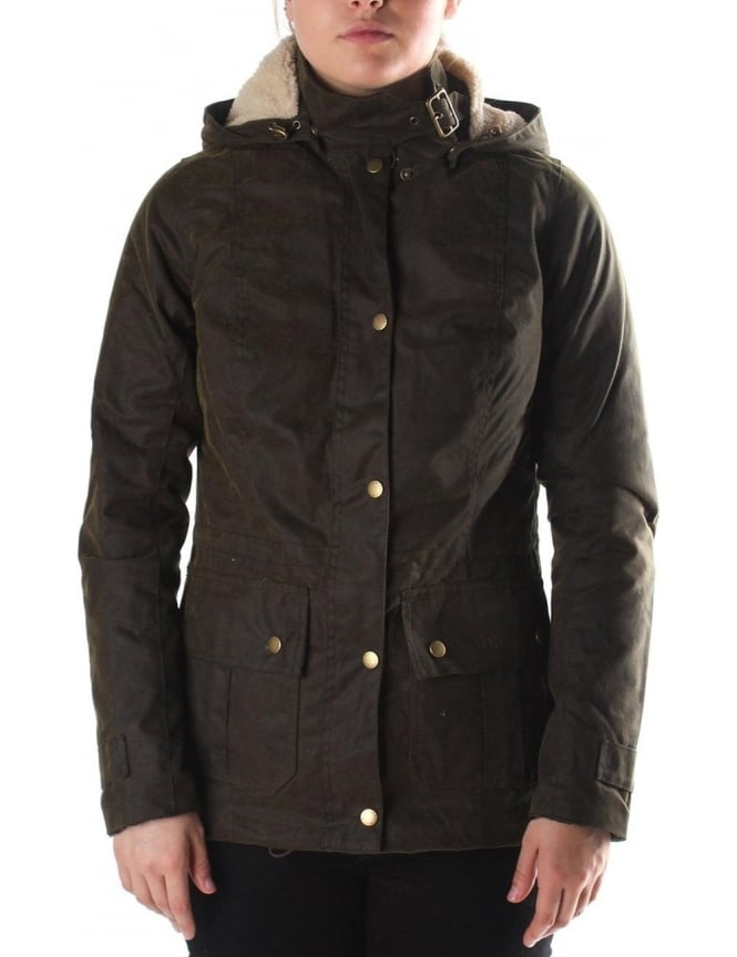 Barbour Convoy Women S Hooded Jacket Olive