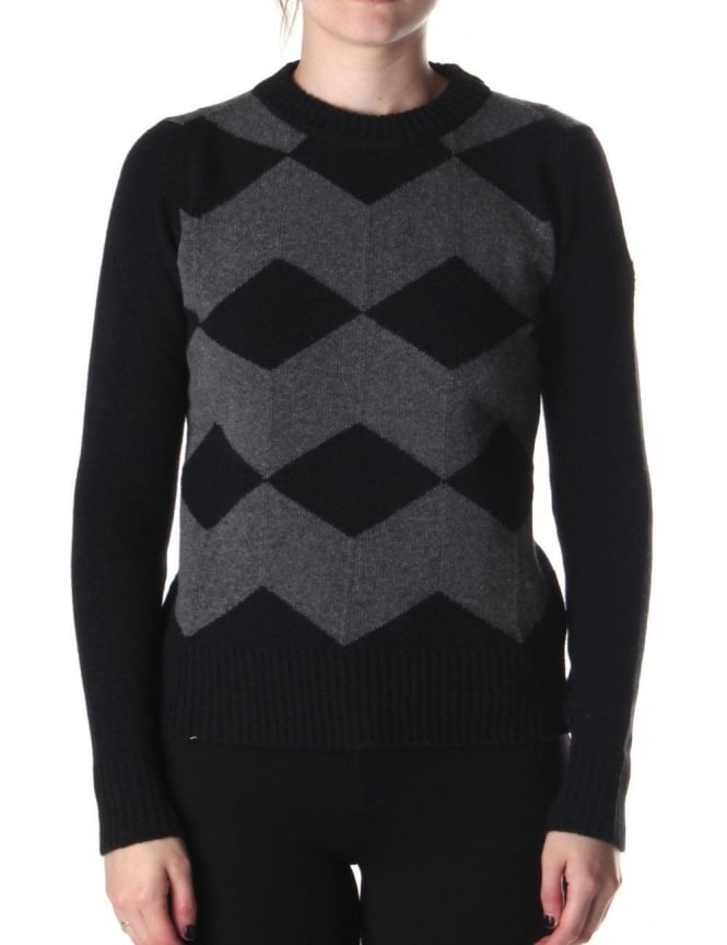 Barbour Cubes Women's Knit Black