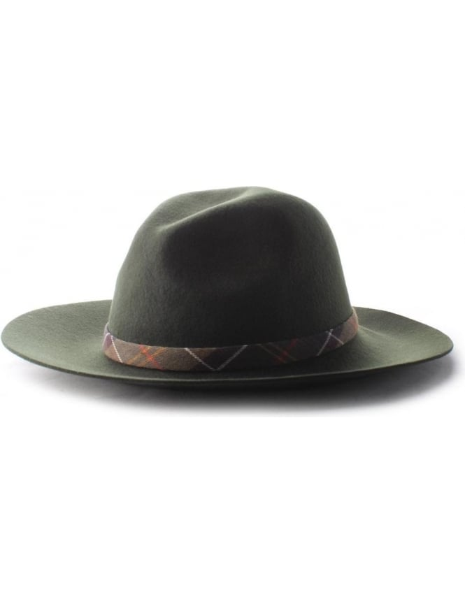 Barbour Dalton Women's Fedora Hat Olive