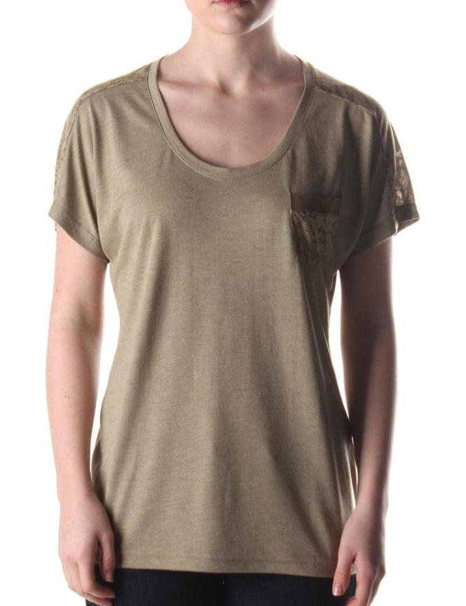 Barbour Duster Women's T-Shirt Khaki