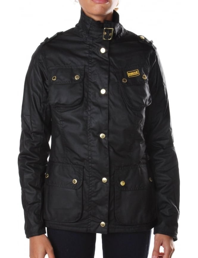 Barbour Fins Women's Waxed Jacket Black