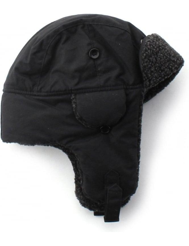 5665e0f910de Barbour Fleece Lined Men's Trapper Hat Black