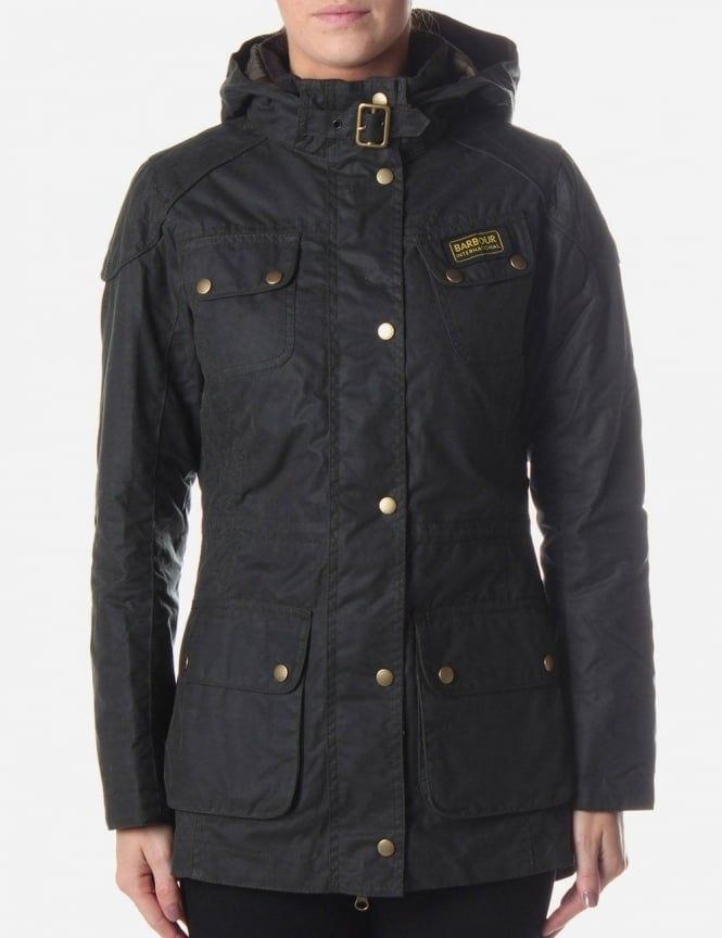 Womens barbour hawkstone waxed parka jacket