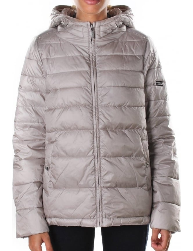 Barbour Helical Baffle Women's Quilted Jacket Taupe