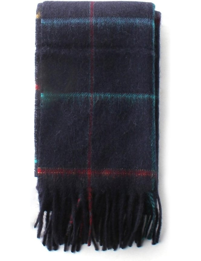 Barbour Hetton Tattersall Women's Scarf Navy
