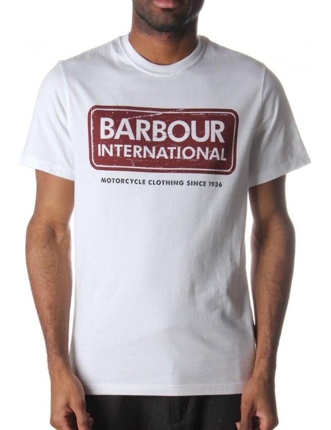 Barbour International T Shirt White