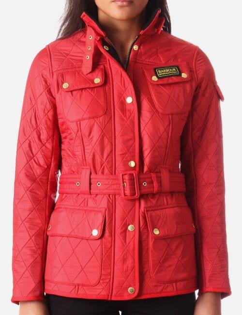 Red Barbour Coat