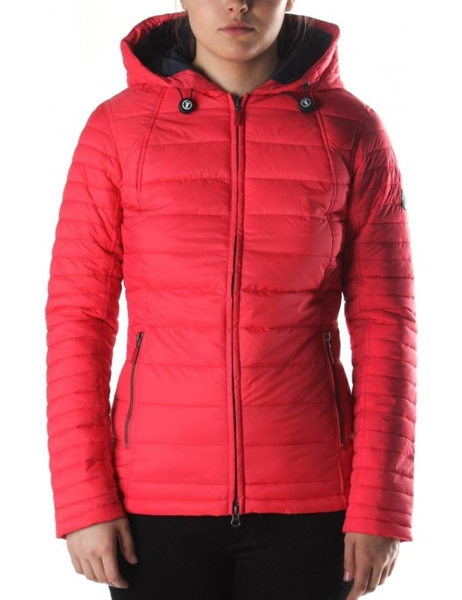 Barbour Landry Baffle Women's Quilt Jacket Red : red barbour quilted jacket - Adamdwight.com