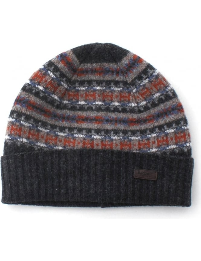 Barbour Melrose Men s Fairisle Beanie Grey 8a45031eb4b