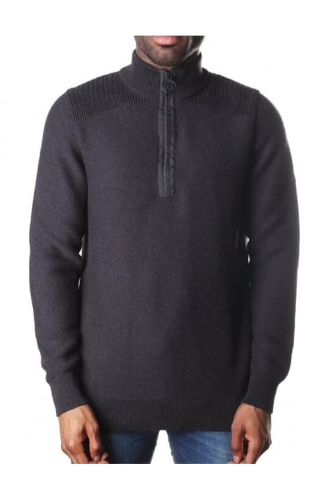 Men's Alloy Half Zip Knit