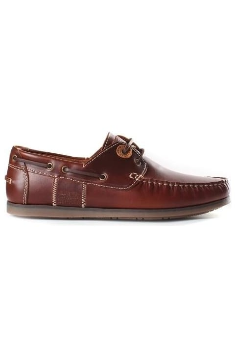 Men's Capstan Boat Shoe Mahogany Leather