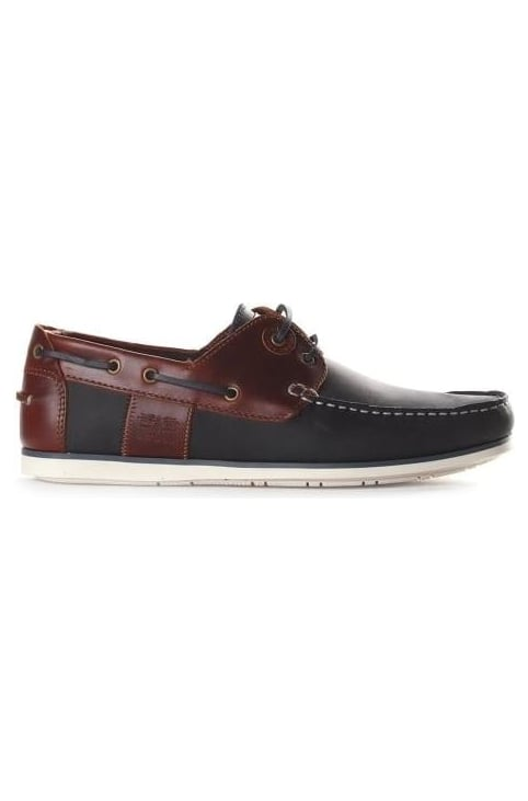 Men's Casptan Boat Shoe Navy/Brown