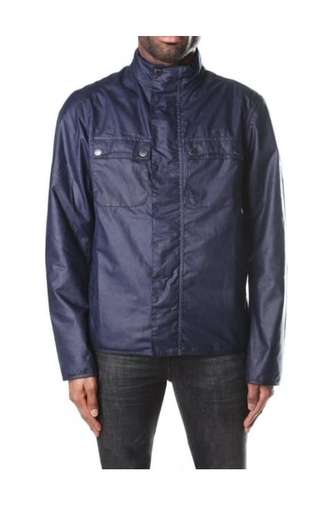 Men's Funnel Neck Lock Wax Jacket