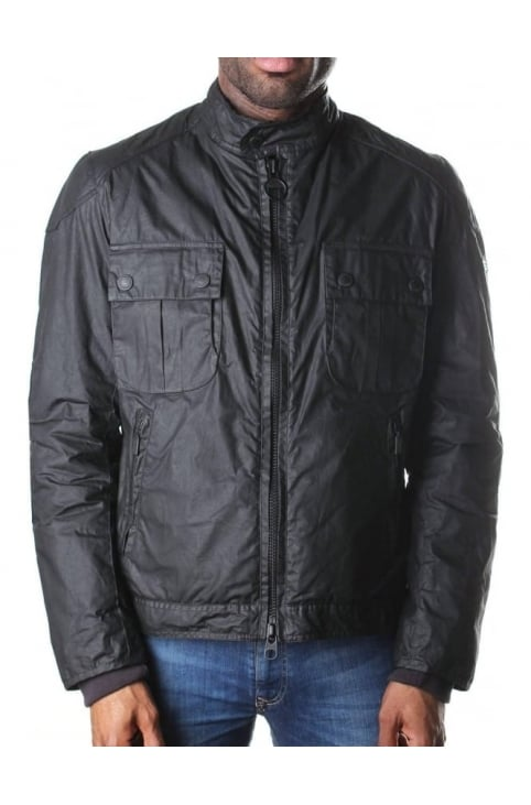 Men's Oil Jacket Black