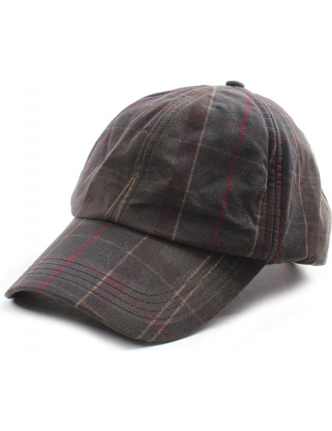 Barbour Men S Tartan Wax Sports Cap