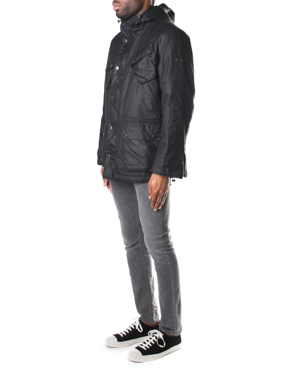 Barbour Men's V Tech Wax Parka Jacket