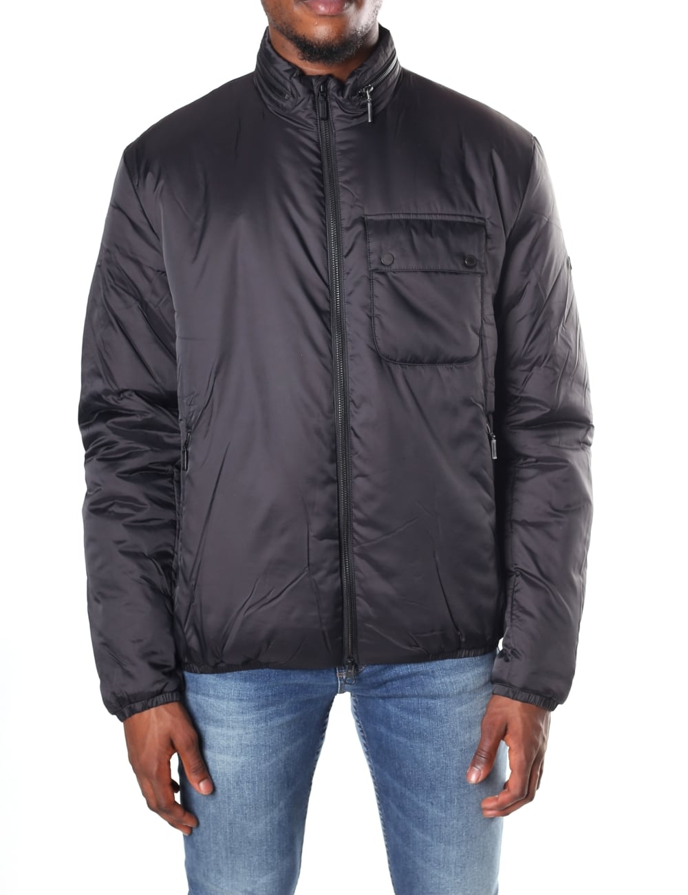 Mens Winter Scarp Quilted Jacket