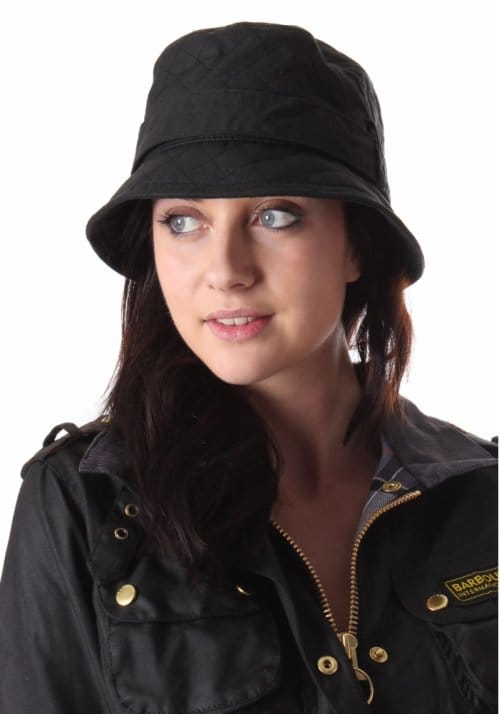 8be41e56445 ... coupon for barbour quilted womens wax bucket hat with belt black 39678  c8ff8
