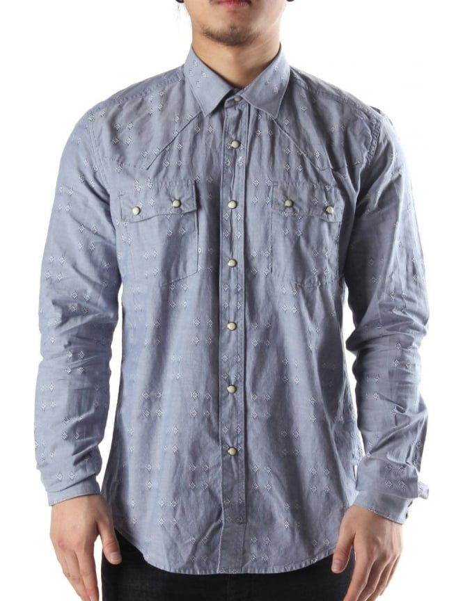 Barbour Redrock Men's Shirt Blue